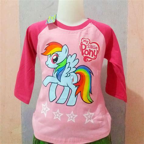 Setelan Frozen Tangan Panjang 4 6 Th baju anak raglan pony pink lengan 3 4 1 6