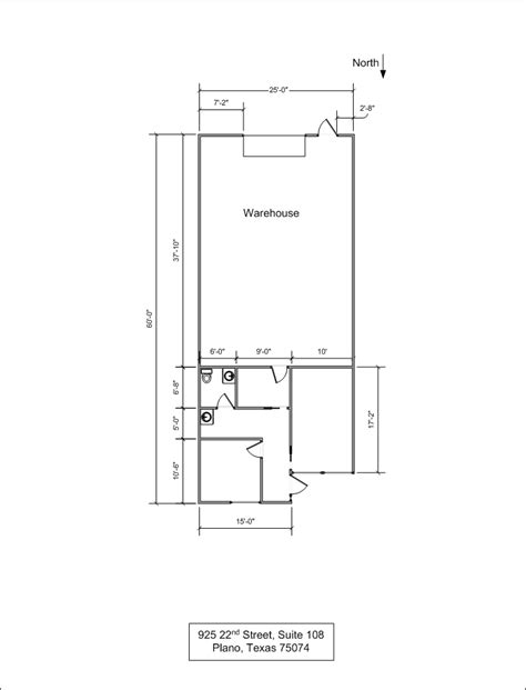 For Lease Howard And Showalter Investments 1500 Square Foot Office Floor Plan