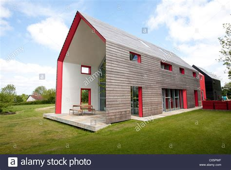 sliding house timber clad exterior of the sliding house suffolk england photo jeff stock photo