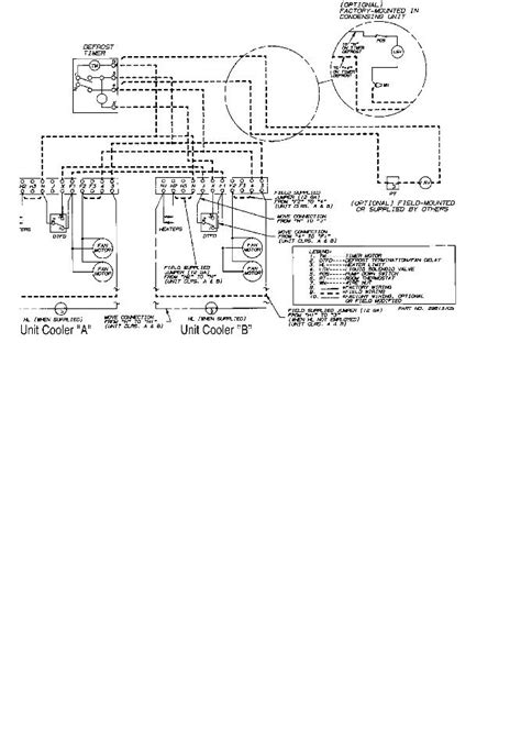 wiring diagram for freezer heatcraft walk in cooler wiring