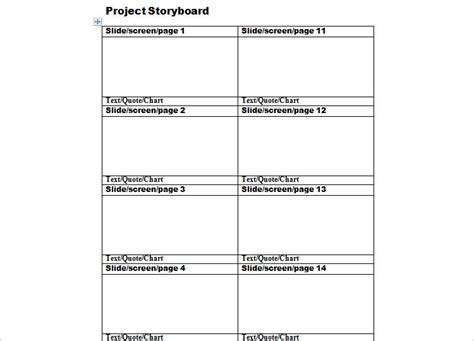 storyboard templates  word   documents