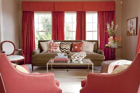red curtains for living room not your average colour scheme home interior design ideas