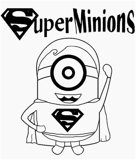 superhero coloring pages preschool childrens film free minion clipart cartoon superhero