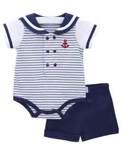 Le top boys ahoy baby short set boys sailor outfit newborn nautical