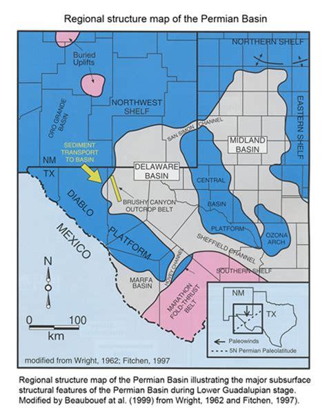 permian basin texas map permian basin geology sepm strata