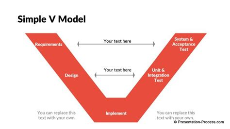 v diagram template flat design templates powerpoint models