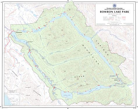 lakes map bowron lake park map bowron columbia ca mappery