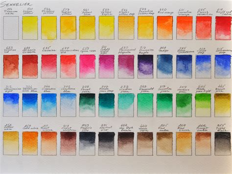 1000 images about watercolor palettes on watercolors color charts and watercolour