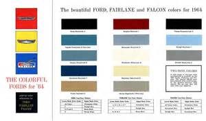 falcons colors regress press ford 1964 the colorful fords for 64 for