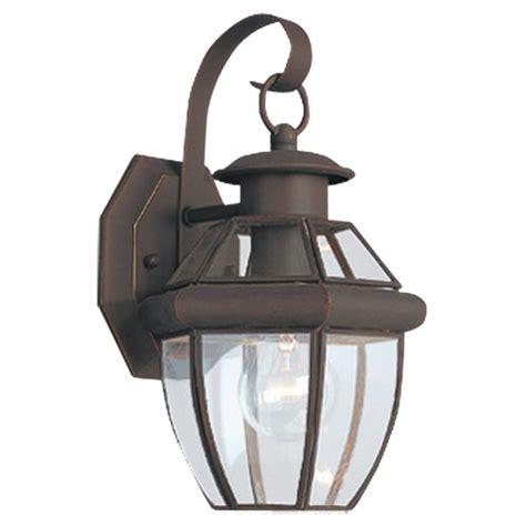 Seagull Landscape Lighting Sea Gull Lighting 8037 71 Antique Bronze Lancaster 1 Light Outdoor Lantern Wall Sconce