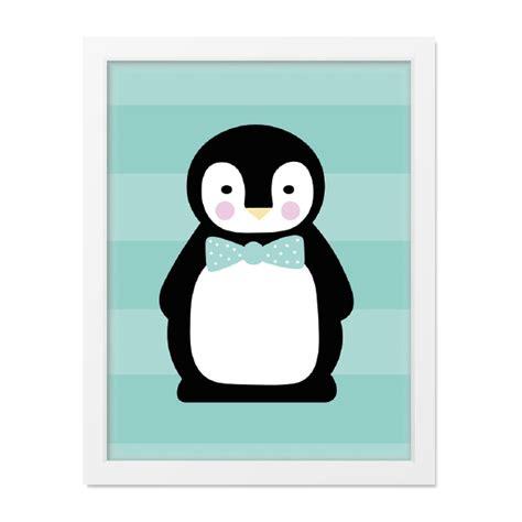 Kinderzimmer Junge Poster by Poster Kinderzimmer Pinguin Din A4 Mint Mintkind