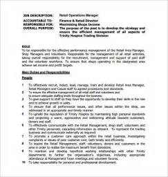 operations manager description template 9 free word