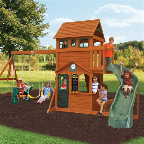 big kid swing set big backyard ashberry ii swing set swing sets at hayneedle