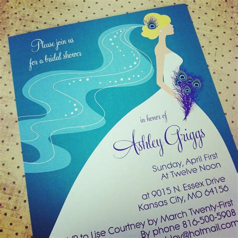 Peacock Bridal Shower Invitations Templates Peacock Inspired Wedding Invitation Template Quotes Invitation Templates