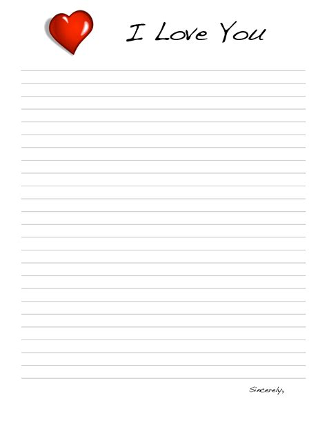 images love letter templates printable