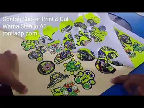 Printcetak Sticker A3 Transparant Ukuran A3 sticker print cut stabilo ronita