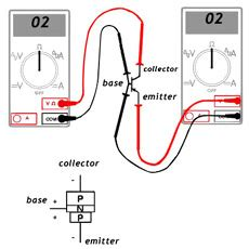 how to check diode using ohmmeter structure of transistor