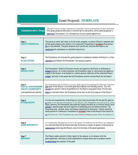 Nsf Research Template 40 Grant Templates Nsf Non Profit Research