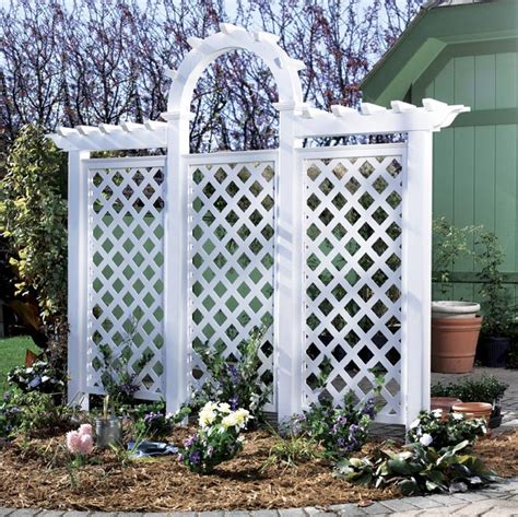 backyard lattice structures arched trellis woodworking plan from wood magazine