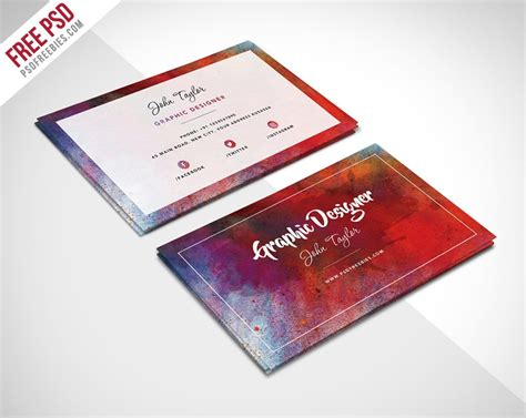 painting business cards templates free psd 100 free business cards psd 187 the best of free business cards