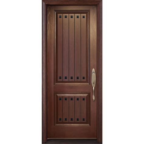exterior fiberglass door single door 2 plank panels