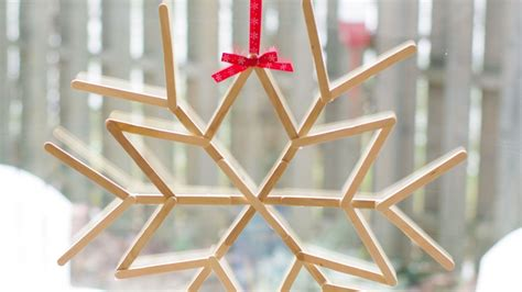 How To Make A Cool Craft Out Of Paper - make a cool craft stick snowflake diy crafts