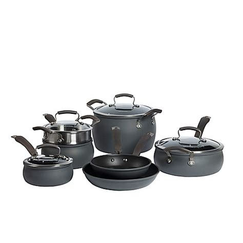 bed bath and beyond pots and pans epicurious hard anodized nonstick 11 piece cookware set