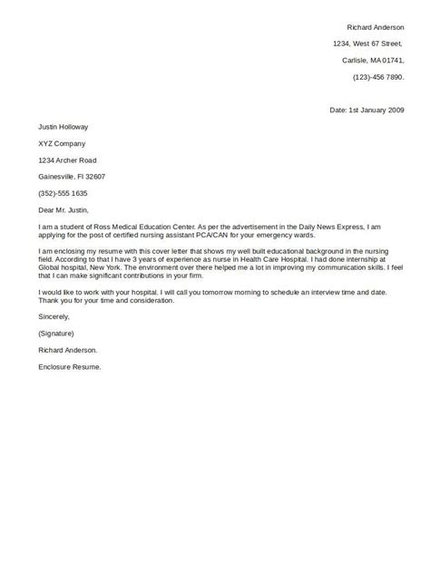 Cover Letter To Resume by Sle Cover Letters Resume Cv