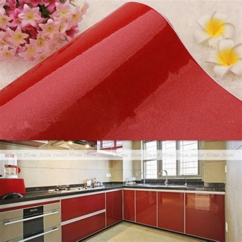 sticky kitchen cabinet doors details about gloss self adhesive contact paper pvc