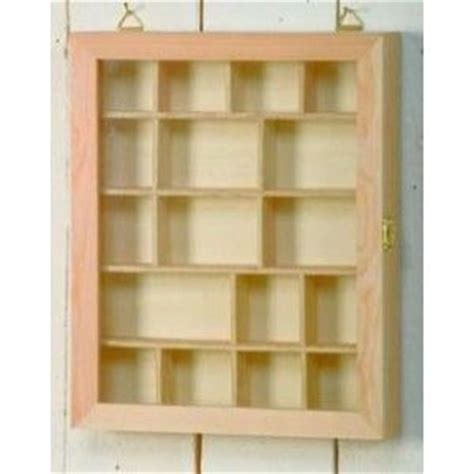 Decoupage Box Frames - wooden glass fronted shadow display box with compartments