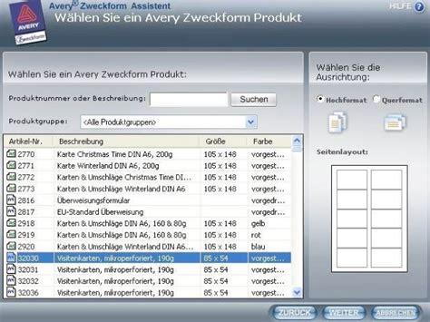 Cd Etiketten Drucken Programm by Zweckform Visitenkarten Software Software Tipp Avery