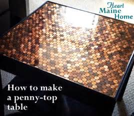 Sanding A Coffee Table - heart maine home how to make a penny top table diy