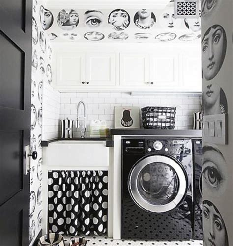 small laundry room decorating ideas small laundry room ideas with black and white tile
