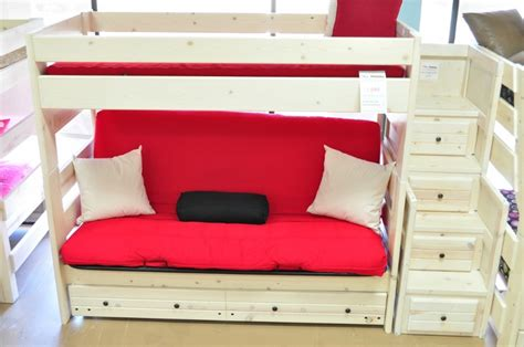 white bunk bed with futon white futon bunk beds 15 excellent futon bunk beds photo