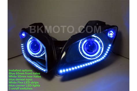 Lu Led Projector R15 2008 2013 yamaha r15 v1 v2 hid bixenon projector headlights kit with halo