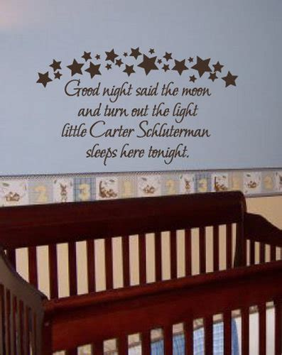 nursery wall sticker quotes custom baby name quote goodnight nursery wall decal decor china mainland