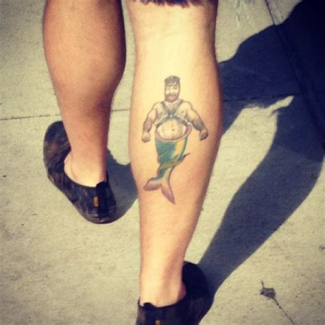 merman tattoo merman color leg uncategorized tattoos