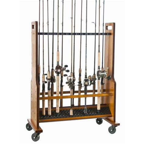 organized fishing 16 capacity rolling rod rack 652715