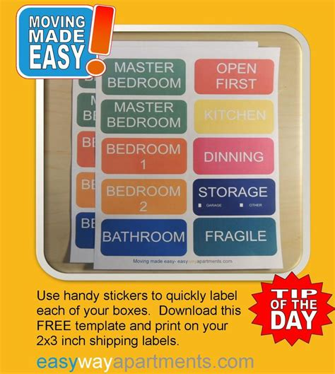 25 Best Ideas About Moving Labels On Pinterest Moving Packing Tips Packing To Move And Moving Labels Template