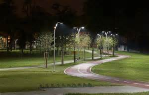 park lights outdoor park led lighting study parma italy cree