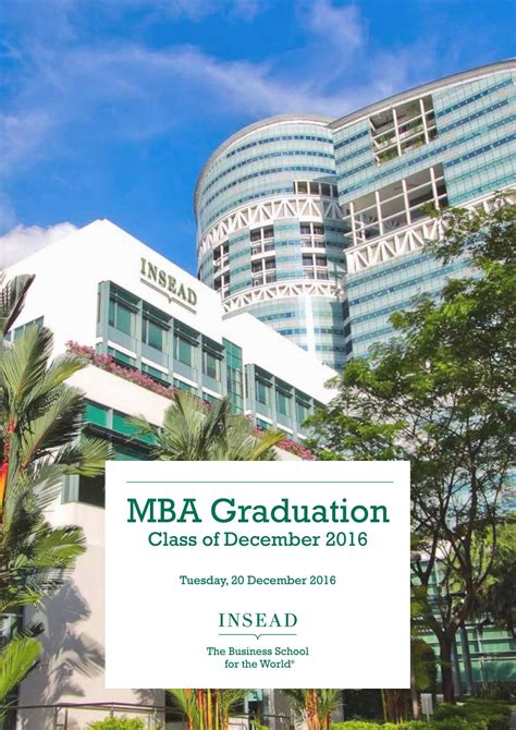 Insead Singapore Mba Deadlines by Insead Graduation 2016 Asia Edition By Joeykexin Issuu