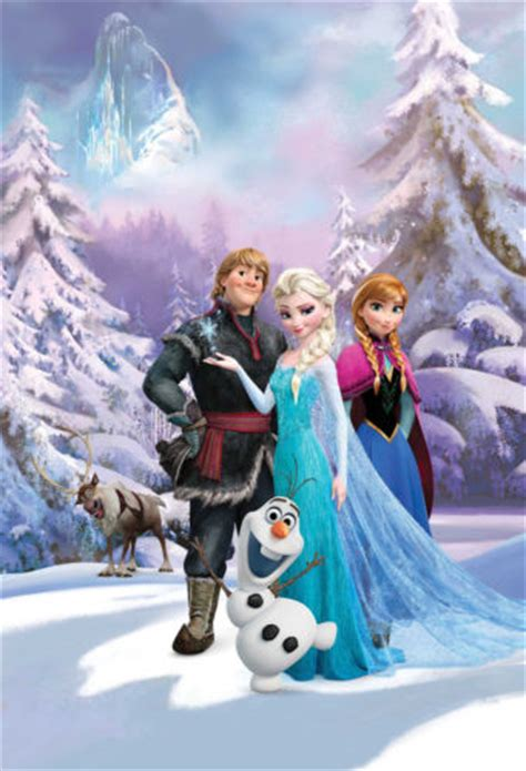 frozen wallpaper on ebay disney frozen wallpaper mural anna elsa sven olaf kids