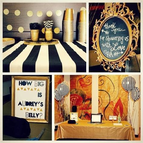 Black And Gold Baby Shower Decorations by Diy Black White And Gold Baby Shower Ideas