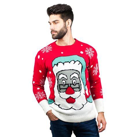 mens pattern christmas jumper c3007 rd men christmas jumper santa pattern red