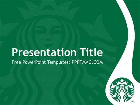 Free Starbucks Powerpoint Template Pptmag Starbucks Powerpoint Template