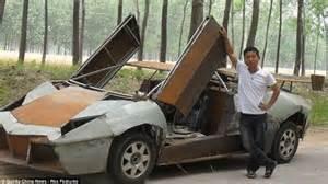 Building A Lamborghini Builds Lamborghini Reventon From Scrap Metal