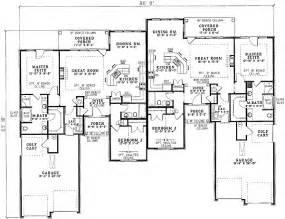 Duplex House Plans Designs by Charming Duplex House Plan 59338nd 1st Floor Master