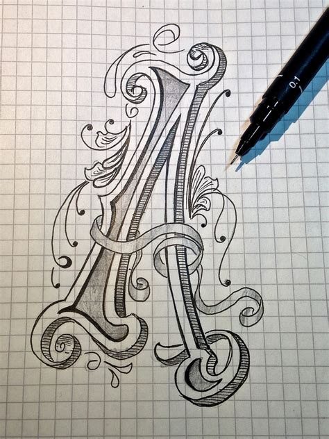 sketch letter a for alphabet absolutely no idea what it 180 flickr