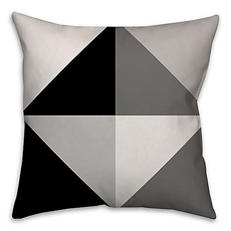 black throw pillows bed bath and beyond greyscale color block square throw pillow in black grey
