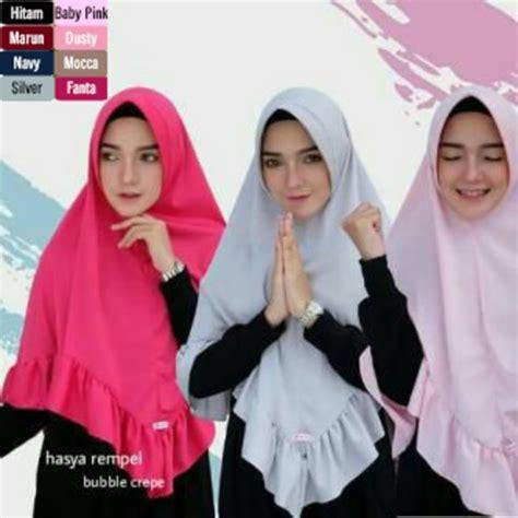 Jilbab Khimar Rempel Terbaru Model Jilbab Syar I Menutup Dada Jilbab Bergo Hasya Rempel